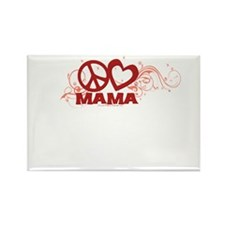 Peace Love Mom Swirls Rectangle Magnet (100 pack)