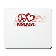 Peace Love Mom Swirls Mousepad