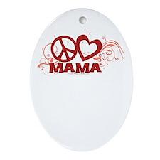 Peace Love Mom Swirls Ornament (Oval)