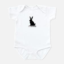 I Love Bunnies Infant Bodysuit