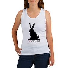 I Love Bunnies Women's Tank Top