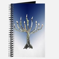 Branch Menorah Blue Journal