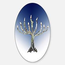 Branch Menorah Blue Decal