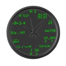 Gray Slate with Green Chalk Large Wall Clock