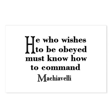 Machiavelli Quote Postcards (Package of 8)