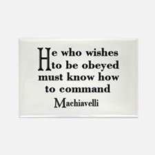 Machiavelli Quote Rectangle Magnet