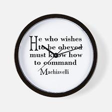 Machiavelli Quote Wall Clock