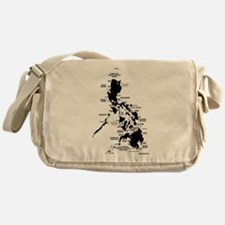 Philippines Rough Map Messenger Bag