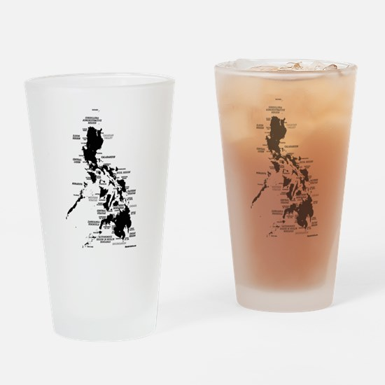 Philippines Rough Map Drinking Glass