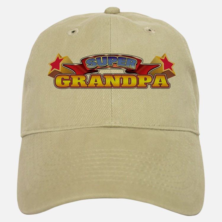 Super Grandpa Baseball Baseball Cap