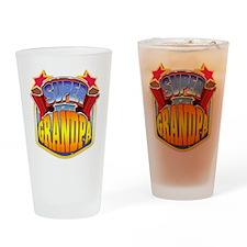 Super Grandpa Drinking Glass