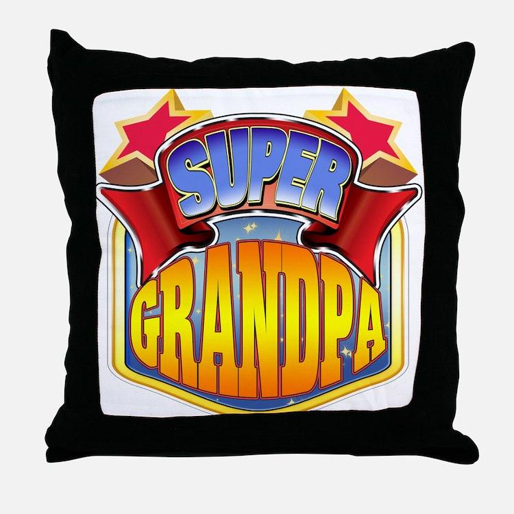 Super Grandpa Throw Pillow