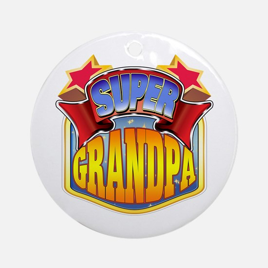 Super Grandpa Ornament (Round)