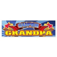 Super Grandpa Bumper Sticker