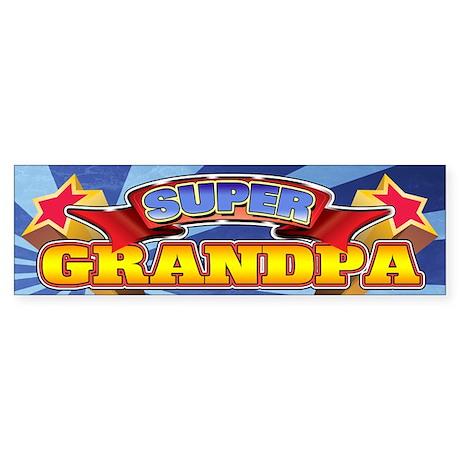 Super Grandpa Sticker (Bumper)