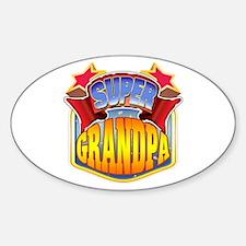 Super Grandpa Sticker (Oval)