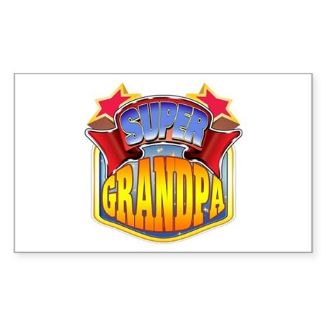 Super Grandpa Sticker (Rectangle)
