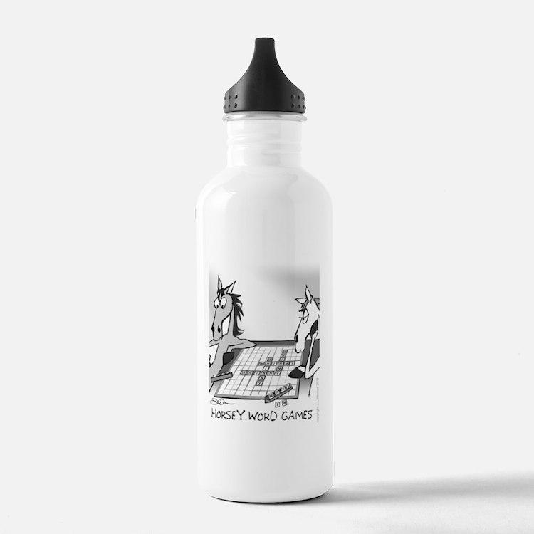 Horsey Word Games Water Bottle