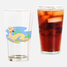 Running Greyhound Desert Drinking Glass