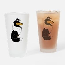 Rough Tricolor Collie Drinking Glass