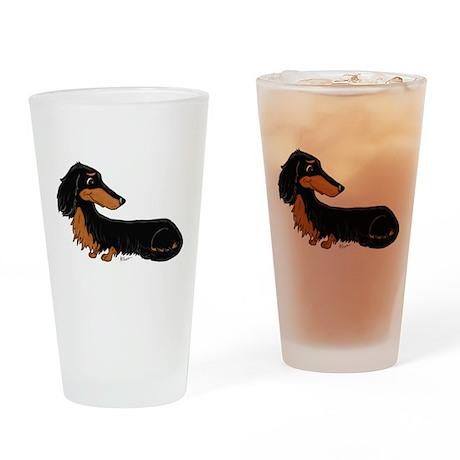 Black Tan Dachshund Drinking Glass
