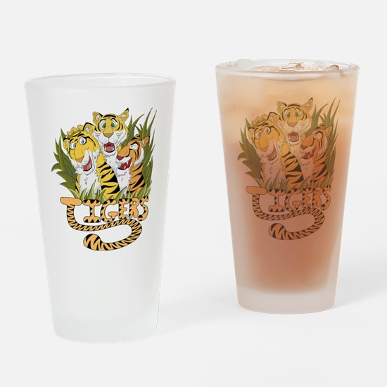 Toon Tiger Team Drinking Glass