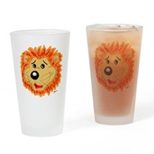 Smiling Lion Face Drinking Glass