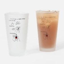 Bear Attacks Comic Drinking Glass