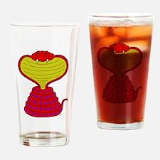 Cartoon Cobra Snake Drinking Glass