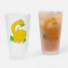Baby Brontosaurus Dinosaur Drinking Glass