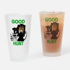 Raccoon Hunting Hound Drinking Glass