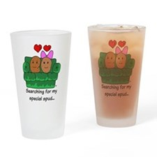 Couch Potato Love Drinking Glass