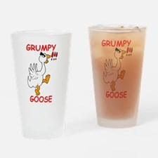 Grumpy Goose Drinking Glass