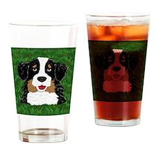 Bernese mountain dog cartoon Drinking Glass