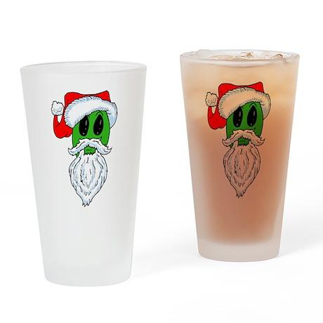 Christmas Alien Drinking Glass
