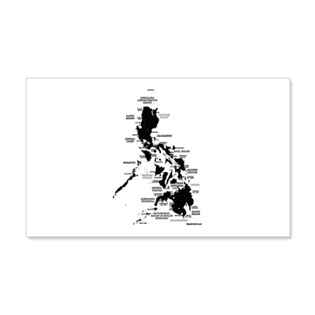 Philippines Rough Map 22x14 Wall Peel