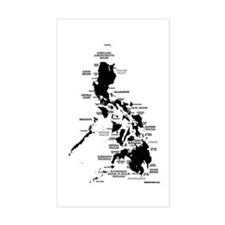 Philippines Rough Map Decal
