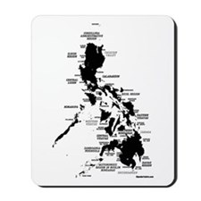 Philippines Rough Map Mousepad