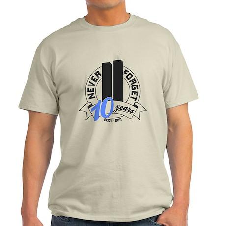 Never Forget September 11th Light T-Shirt