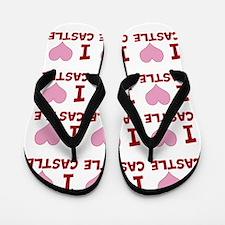 I Heart Castle Flip Flops