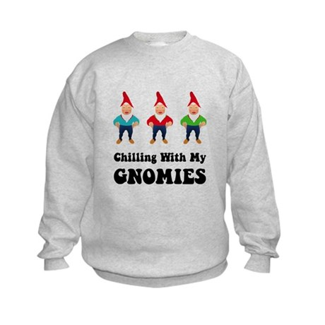Chilling With My Gnomies Kids Sweatshirt