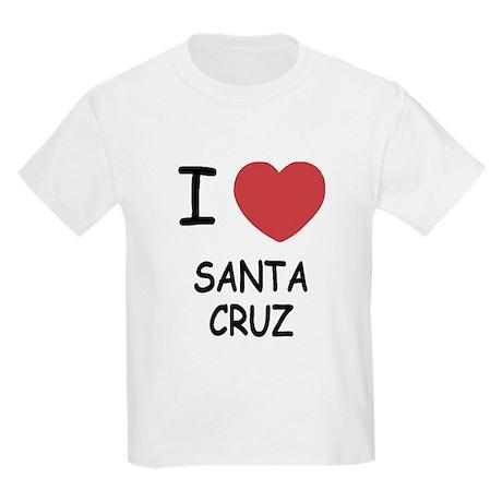 I heart santa cruz Kids Light T-Shirt