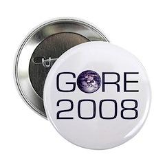 For the Earth Al Gore 2008 Button