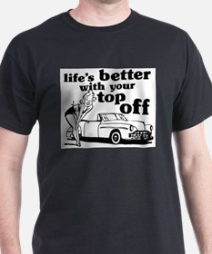 Better With Your Top Off Ash Grey T-Shirt