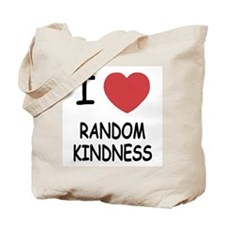 I heart random kindness Tote Bag