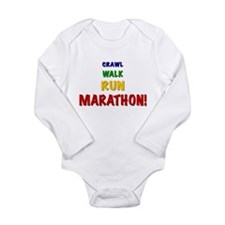 Crawl Walk Run Marathon Long Sleeve Infant Bodysui