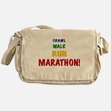 Crawl Walk Run Marathon Messenger Bag