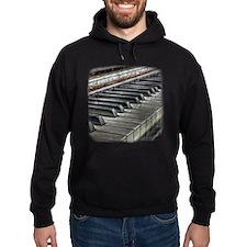 Distressed Vintage Piano Hoodie