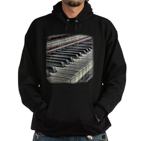 Distressed Vintage Piano Hoodie (dark)