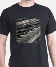 Distressed Vintage Piano T-Shirt
